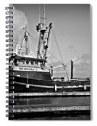 Qualay Squallum Bw Spiral Notebook