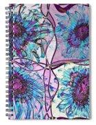 Quatro Floral - 11ac04 Spiral Notebook