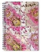 Quatro Floral - 22a Spiral Notebook