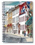 Quebec Old City Canada Spiral Notebook