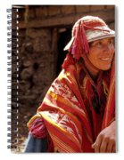 Quechua Man Sacred Valley Peru Spiral Notebook