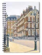 Queen Annes Gate Oil On Canvas Spiral Notebook