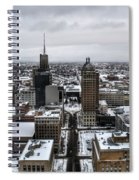 Queen City Winter Wonderland After The Storm Series 001 Spiral Notebook