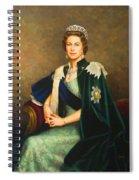 Queen Elizabeth II Portrait - Oil On Canvas Spiral Notebook