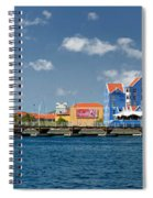 Queen Emma Bridge Open Curacao Spiral Notebook