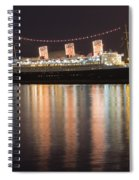 Queen Mary Decked Out For The Holidays Spiral Notebook