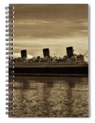 Queen Mary In Sepia Spiral Notebook