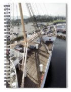 Queen Mary Ocean Liner Bow 03 Long Beach Ca Spiral Notebook
