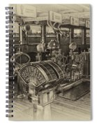 Queen Mary Ocean Liner Bridge 01 Heirloom Spiral Notebook
