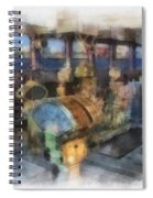 Queen Mary Ocean Liner Bridge 01 Photo Art 01 Spiral Notebook