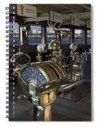 Queen Mary Ocean Liner Bridge 01 Spiral Notebook