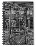 Queen Mary Ocean Liner Bridge 02 Bw Spiral Notebook
