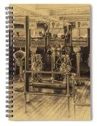 Queen Mary Ocean Liner Bridge 02 Heirloom Spiral Notebook