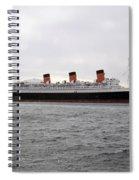 Queen Mary Ocean Liner Full Starboard Side 03 Long Beach Ca Spiral Notebook