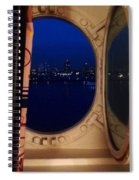 Queen Mary Port Hole Night  Spiral Notebook