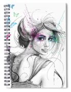 Queen Of Butterflies Spiral Notebook