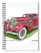 Queen Of Diamonds 1933 Duesenberg Model J Spiral Notebook