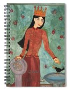 Queen Of Pentacles Spiral Notebook