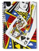Queen Of Spades Collage Spiral Notebook