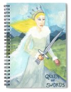 Queen Of Swords Spiral Notebook