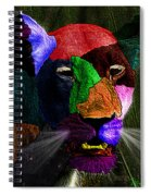 Queen Of The Jungle Featured In Harmony And Happiness-wildlife-nature Photography Groups Spiral Notebook