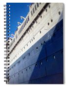 Queen's Blue  Spiral Notebook