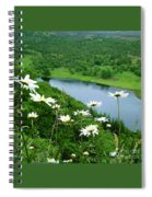 White Daisies At Queen's View 2 Spiral Notebook