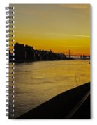 Queensboro Bridge At Sunset - Nyc Spiral Notebook