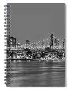 Queensboro Bridge 59th Street Nyc Bw Spiral Notebook