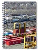 Queensgate Yard Cincinnati Ohio Spiral Notebook