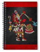 Quetzalcoatl In Human Warrior Form - Codex Magliabechiano Spiral Notebook