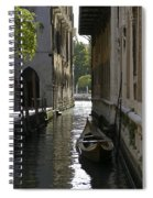 Quiet Canal In Venice Spiral Notebook