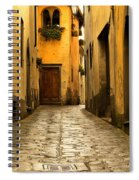 Quiet Lane In Tuscany 1 Spiral Notebook