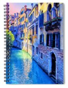 Quiet Morning In Venice Spiral Notebook