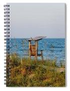 Quiet On The Beach Spiral Notebook