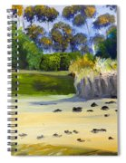 Quiet Sand By The Creek Spiral Notebook