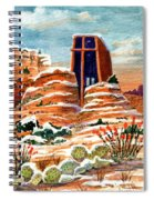 Quiet Snowfall  Sedona  Arizona Spiral Notebook