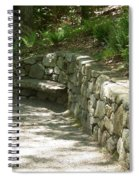 Bench In A Stone Wall Spiral Notebook