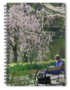 Quiet Time Among The Cherry Blossoms Spiral Notebook