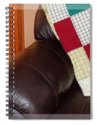 Quilt Beside A Fireplace Spiral Notebook