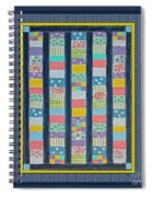 Quilt Painting With Digital Border 2 Spiral Notebook