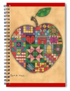 Quilted Apple Spiral Notebook