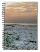 Quite Time On The Beach Spiral Notebook