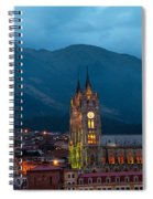 Quito Basilica At Night Spiral Notebook