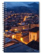 Quito Old Town At Night Spiral Notebook