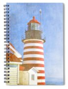 Quoddy Lighthouse Lubec Maine Spiral Notebook