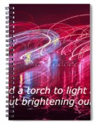 Quote By Ben Sweetland Spiral Notebook