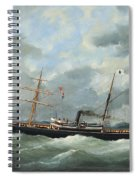 R. Bell And Co.s Steamship Bothal In A Heavy Swell Spiral Notebook