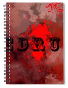 R E D R U M - Featured In Visions Of The Night Group Spiral Notebook