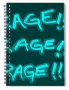 R R R Turquoise Spiral Notebook